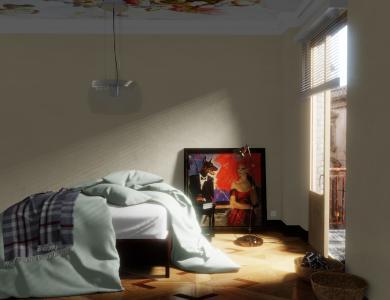 """""""Sunkiss"""" linen bedding CF by Christian Fischbacher, Ocean"""