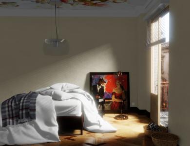 """Sunkiss"" linen bedding CF by Christian Fischbacher, white"