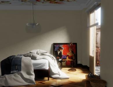 """""""Sunkiss"""" linen bedding CF by Christian Fischbacher, Creme"""