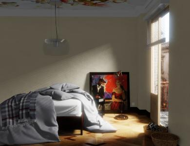 """""""Sunkiss"""" linen bedding CF by Christian Fischbacher, Dark Gray"""