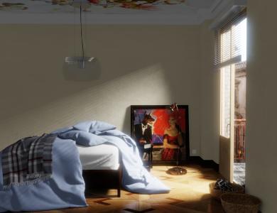 """""""Sunkiss"""" linen bedding CF by Christian Fischbacher, Light Blue"""
