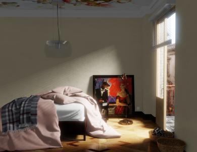 """Sunkiss"" linen bedding CF by Christian Fischbacher, Smoothie"