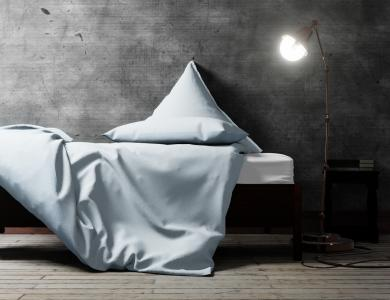 """""""Love Me More"""" percal bedding CF by Christian Fischbacher, Blue Lagoon"""