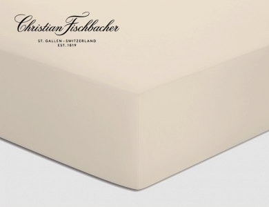 Christian Fischbacher fitted sheet Satin - Off-white 027