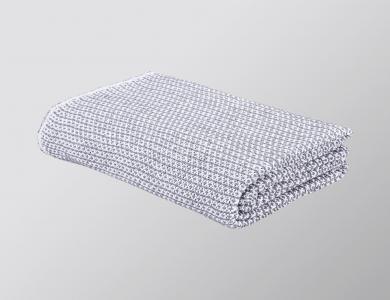 """Ascona"" blanket white / anthracite"