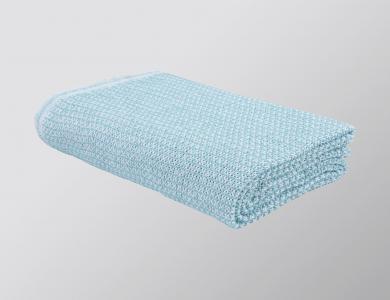 """""""Ascona"""" blanket white / aqua"""