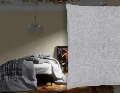 """Sunkiss"" linen bedding CF by Christian Fischbacher, Dark Gray"