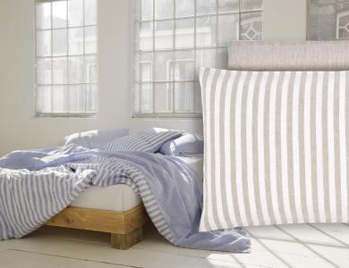 """Summertime"" linen bedding CF by Christian Fischbacher, Creme"