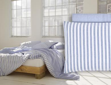 """Summertime"" linen bedding CF by Christian Fischbacher, Light Blue"