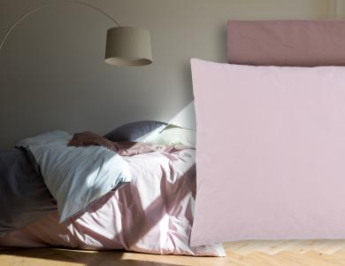 """Bittersweet"" percal bedding CF by Christian Fischbacher, Pink"
