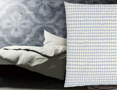 """Harlequin"" percal bedding CF by Christian Fischbacher, Sky Blue"