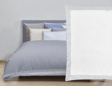 "Christian Fischbacher Fil a Fil ""Nordstrand"" bed linen, white - gray"