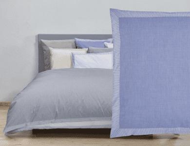 """Christian Fischbacher Fil a Fil """"Nordstrand"""" bed linen, blue"""