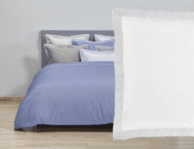 "Christian Fischbacher Fil a Fil ""Südstrand"" bed linen, white - gray"