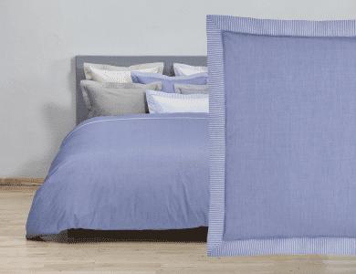 """Christian Fischbacher Fil a Fil """"Südstrand"""" bed linen, blue"""