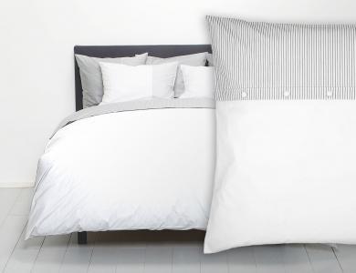 Christian Fischbacher Bed Linen Fil a Fil Sylt white