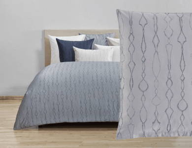 Christian Fischbacher Jacquard Duvet Cover Set Artemis gray