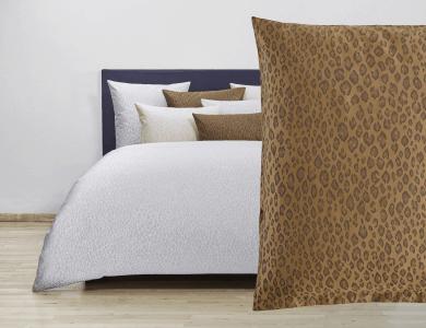 Fischbacher Bettwäsche Jacquard Duvet Cover Set Felino golden brown