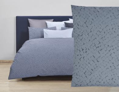 Christian Fischbacher Jacquard Duvet Cover Set Quadro gray