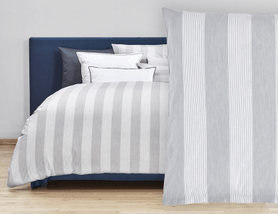 "Christian Fischbacher Bed Linen ""Rigato"" Renforcé gray"