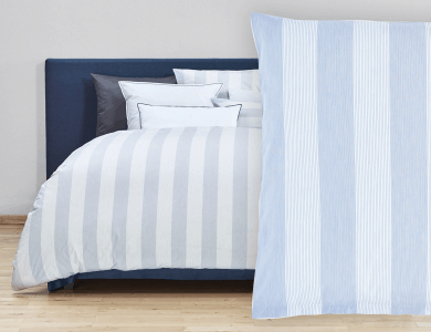 "Christian Fischbacher Bed Linen ""Rigato"" Renforcé blue"