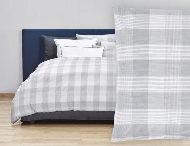 "Christian Fischbacher Bed Linen ""Quadrato"" Renforcé gray"