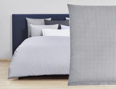 Fischbacher Bettwäsche Pied de Poule lightgray Satin Bed Linen