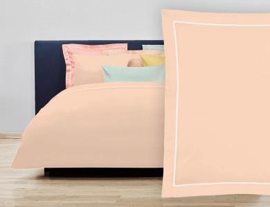 """Christian Fischbacher Bed Linen """"Balance"""" Satin salmon pink"""