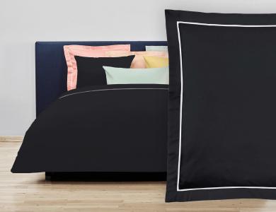 """Christian Fischbacher Bed Linen """"Balance"""" Satin black"""
