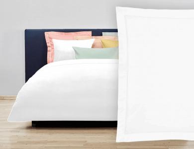 """Christian Fischbacher Bed Linen """"Balance"""" Satin white"""