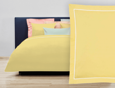 """Christian Fischbacher Bed Linen """"Balance"""" Satin light yellow"""