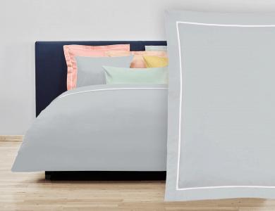 """Christian Fischbacher Bed Linen """"Balance"""" Satin ice gray"""