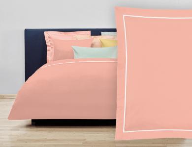 """Christian Fischbacher Bed Linen """"Balance"""" Satin peach pink"""