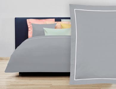 """Christian Fischbacher Bed Linen """"Balance"""" Satin gray"""