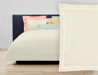 """Christian Fischbacher Bed Linen """"Balance"""" Satin off white"""
