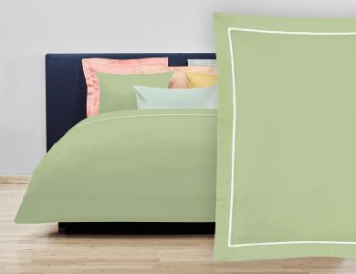 """Christian Fischbacher Bed Linen """"Balance"""" Satin gray green"""