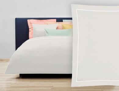 """Christian Fischbacher Bed Linen """"Balance"""" Satin ivoire"""