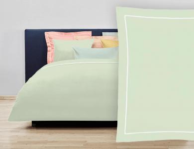 """Christian Fischbacher Bed Linen """"Balance"""" Satin mint green"""