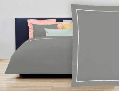 """Christian Fischbacher Bed Linen """"Balance"""" Satin slate gray"""