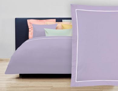 """Christian Fischbacher Bed Linen """"Balance"""" Satin purple"""