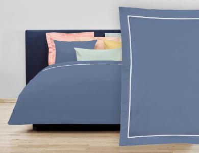 """Christian Fischbacher Bed Linen """"Balance"""" Satin steel blue"""