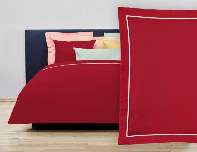 """Christian Fischbacher Bed Linen """"Balance"""" Satin red"""