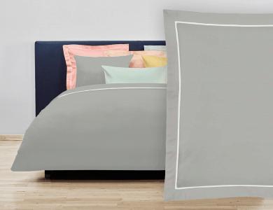 """Christian Fischbacher Bed Linen """"Balance"""" Satin light gray"""