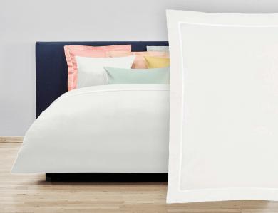 "Christian Fischbacher Bed Linen ""Balance"" Satin pearl white"