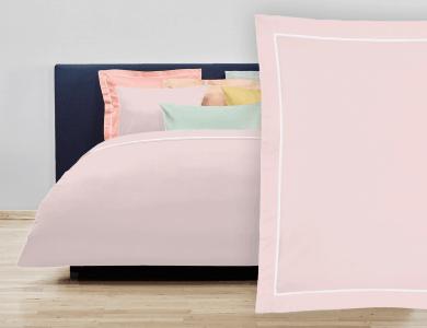 """Christian Fischbacher Bed Linen """"Balance"""" Satin light pink"""