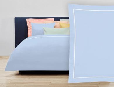 """Christian Fischbacher Bed Linen """"Balance"""" Satin ciel"""