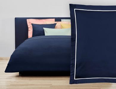 """Christian Fischbacher Bed Linen """"Balance"""" Satin night blue"""