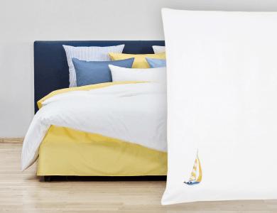 """Christian Fischbacher Bed Linen """"Sail Away"""" Satin"""