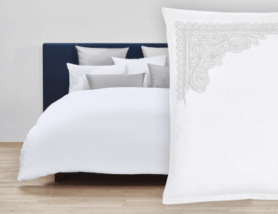 "Christian Fischbacher Bed Linen ""Aurelie"" Satin white"