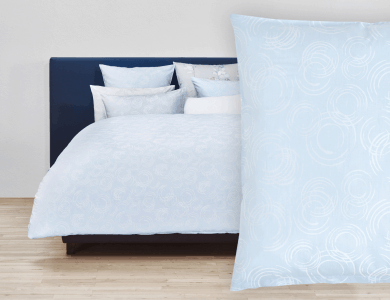 Christian Fischbacher Jacquard Duvet Cover Set Acqua blue